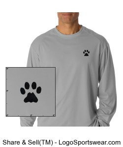 Cat Paw Badger Long Sleeve Tshirt Design Zoom